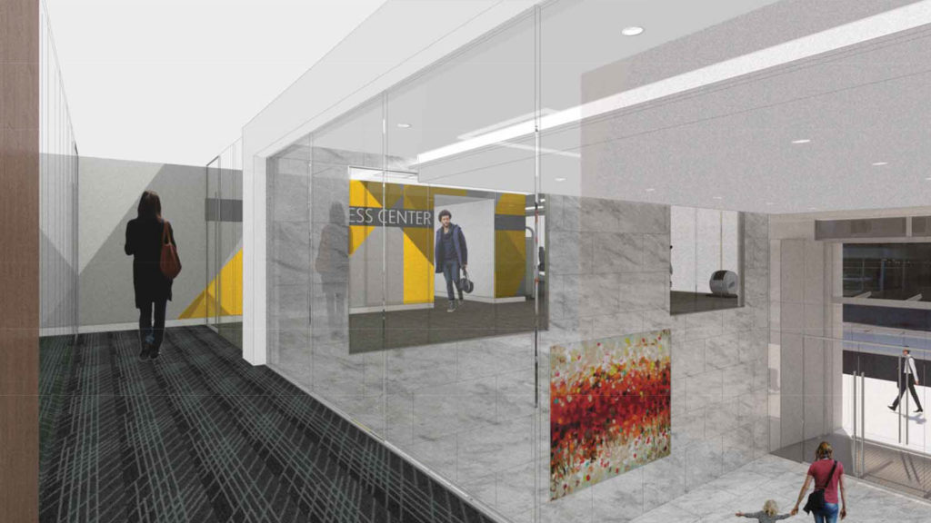 Grand Entryway from second story fitness center access